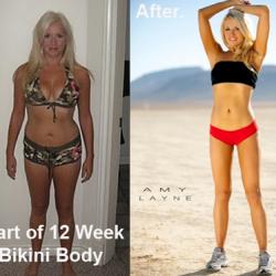 Amy Layne Before and After Bikini Body