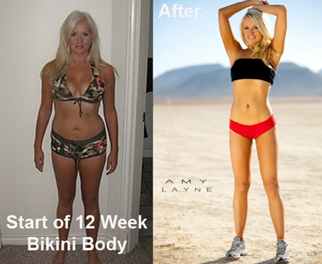 Amy Layne Before and After Bikini Body