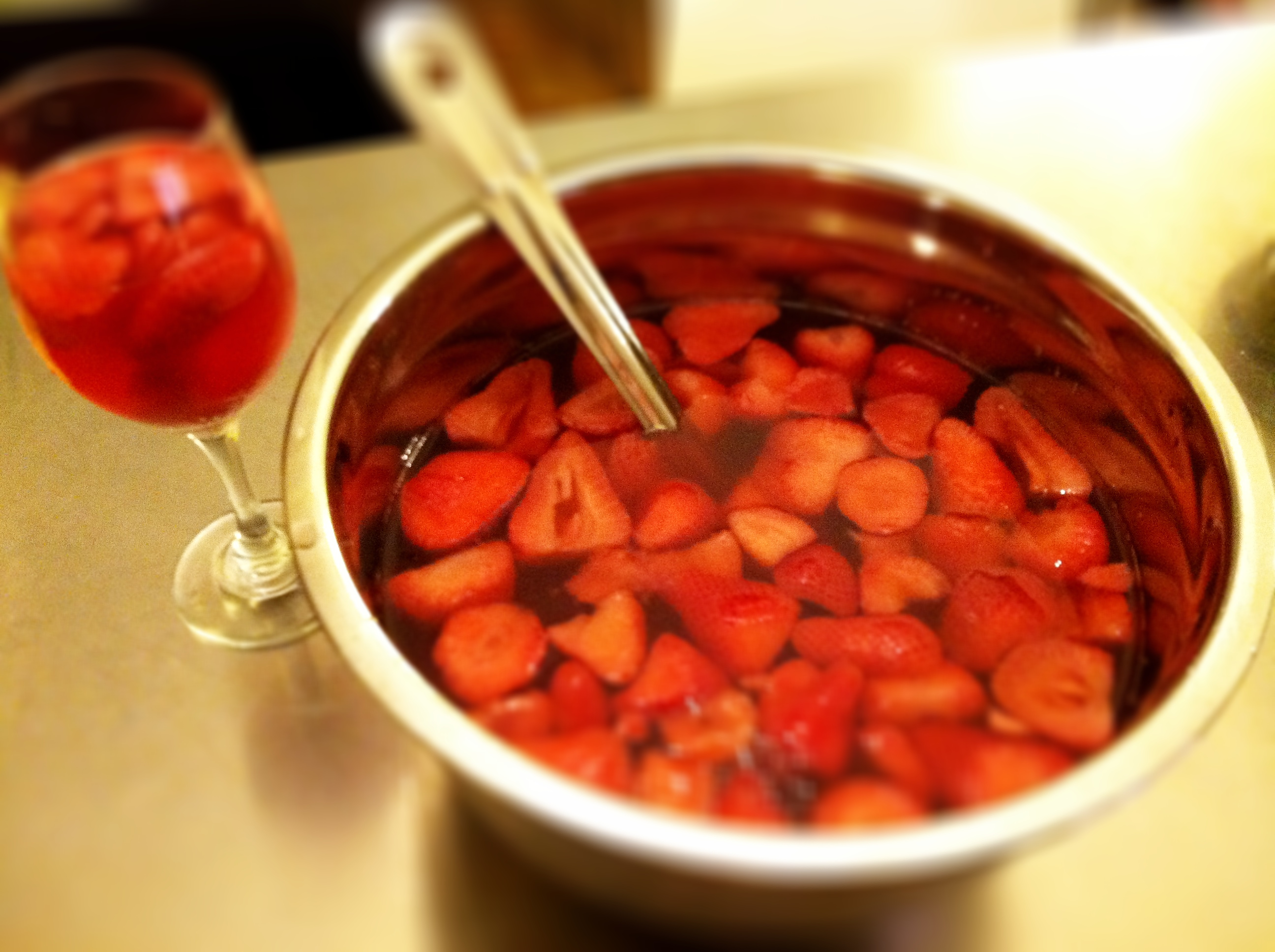 Healthy Strawberry Ginger Sangria