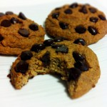 Healthy Gluten Free & Grain Free Chocolate Chip Cookies (Thumb Print & Date-Center)