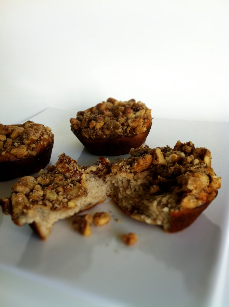 Banana Walnut Crunch Protein Muffins