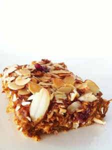 Amy Laynes Nutrition Bar Pumpkin Cranberry almond