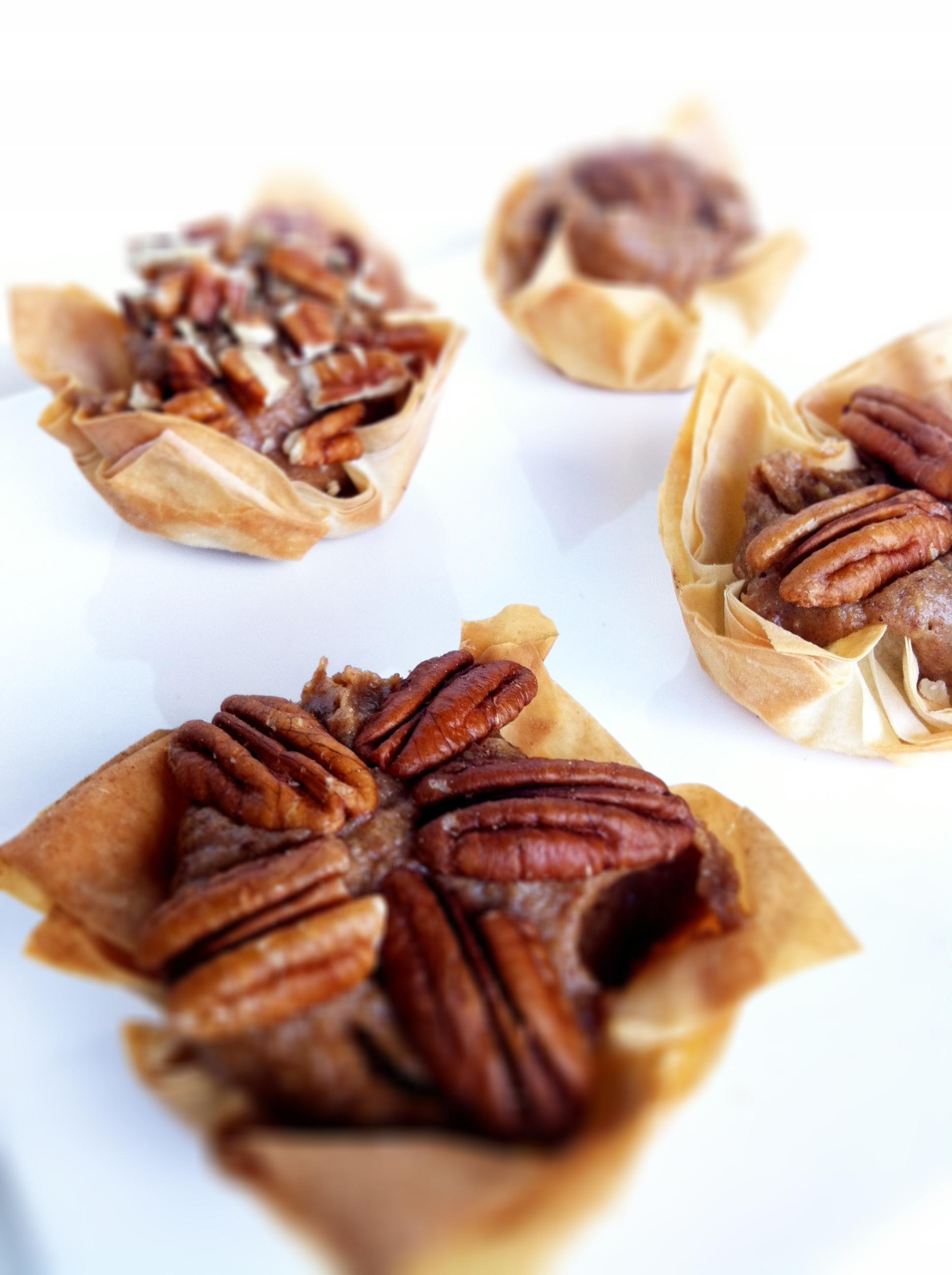Raw Food Pecan Pie Tarts