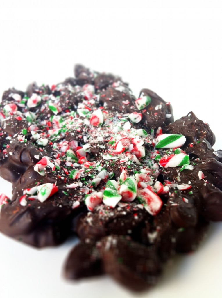 Skinny Chocolate Candy Cane Bark