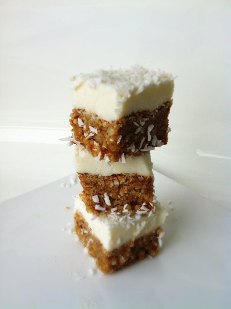Healthy Lemon Coconut Cheesecake Bites