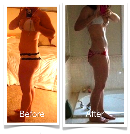 Steph Before and After Bikini Body Program 1