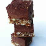 Dark Chocolate Almond Fudge Bites (Gluten Free, Vegan and No-Bake)