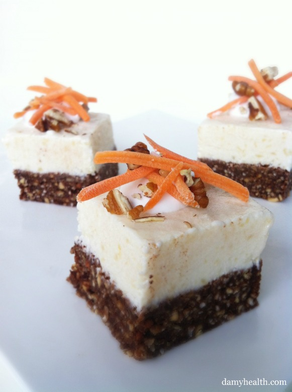 Clean eating carrot cake cheese cakes