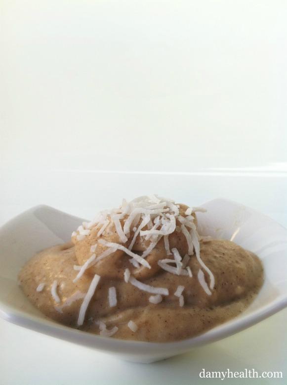 Clean eating cocnut icecream