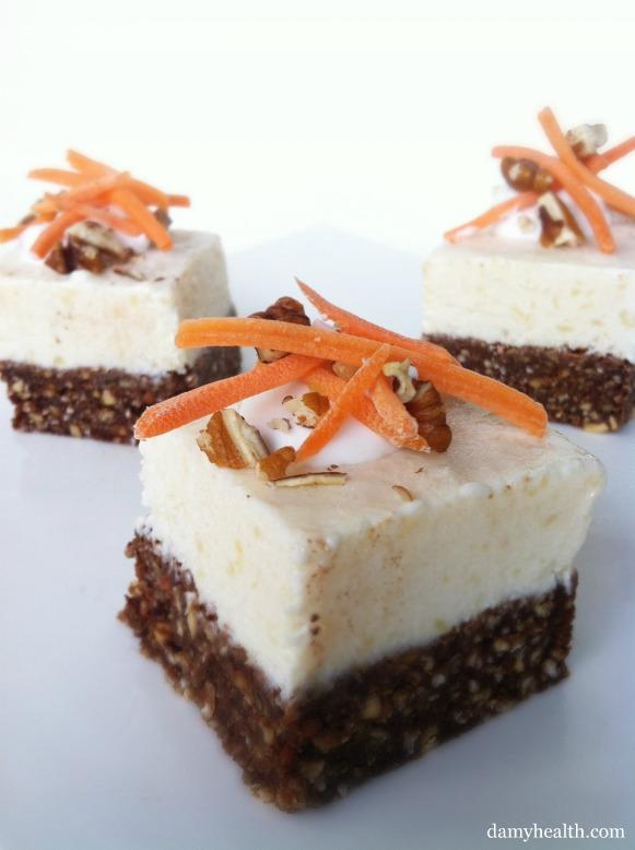 Skinny Carrot Cake Cheesecake Bites