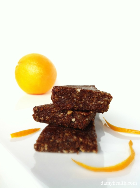 Healthy Chocolate Orange Bars
