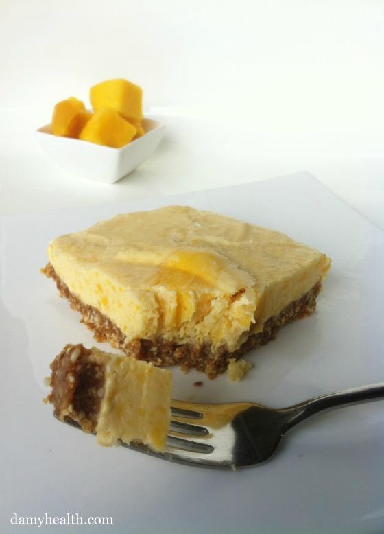 Healthy Mango Cheesecake