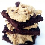 Quinoa Brownies with Cookie Dough Frosting