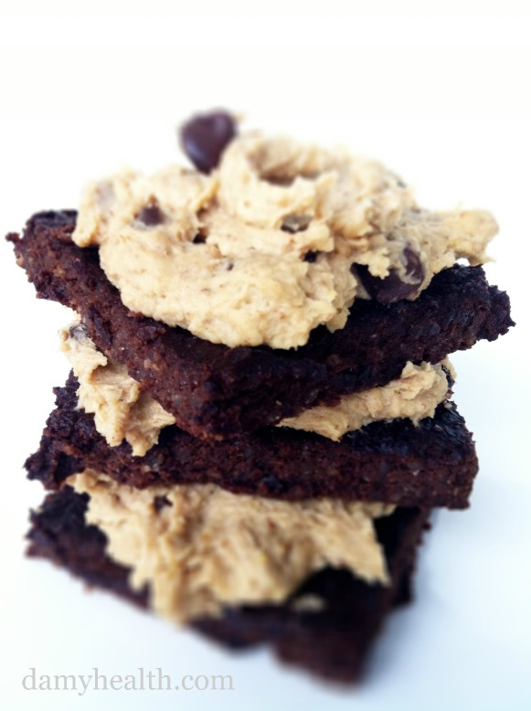 Quinoa Brownies and Cookie Dough Frosting