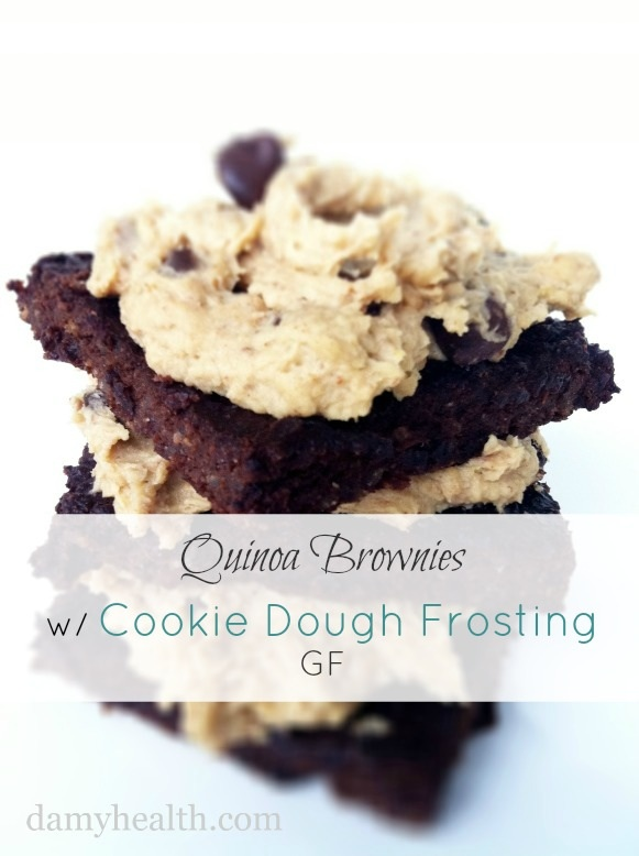 Quinoa Brownies with Cookie Dough Frosting | DAMY Health