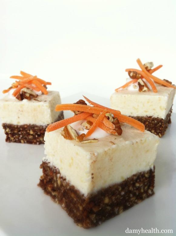 Skinny Carrot Cake Cheese Cakes