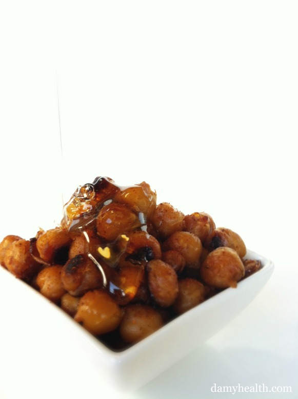Sweet and Spicey Roasted Chickpeas