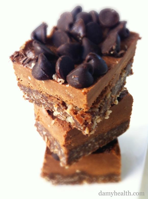 Vegan mint fudge brownies