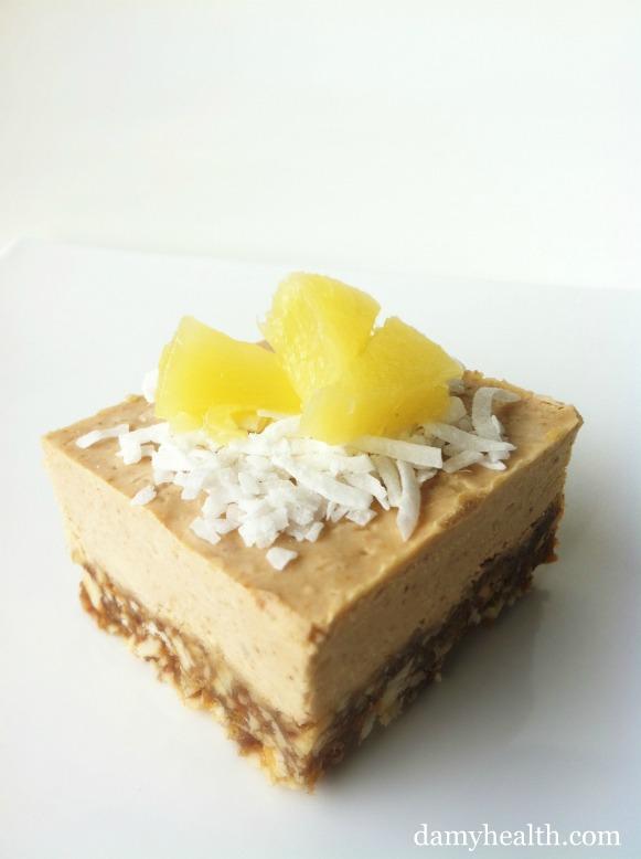healthy pina colada cake