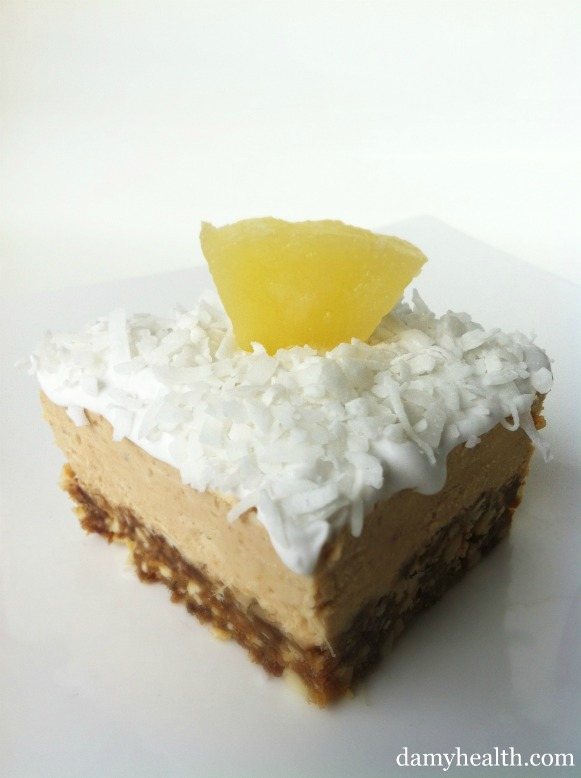 vegan pina colada cheese cake