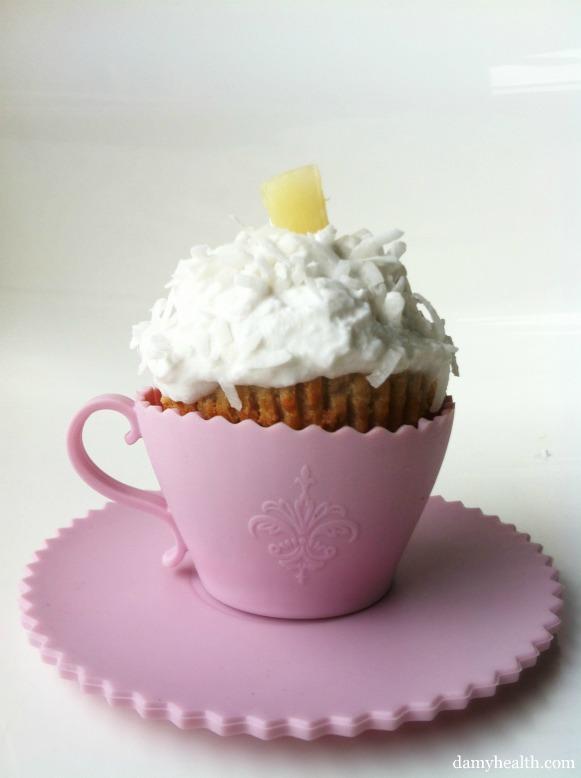 Almond Flour Pina Colada Cupcakes