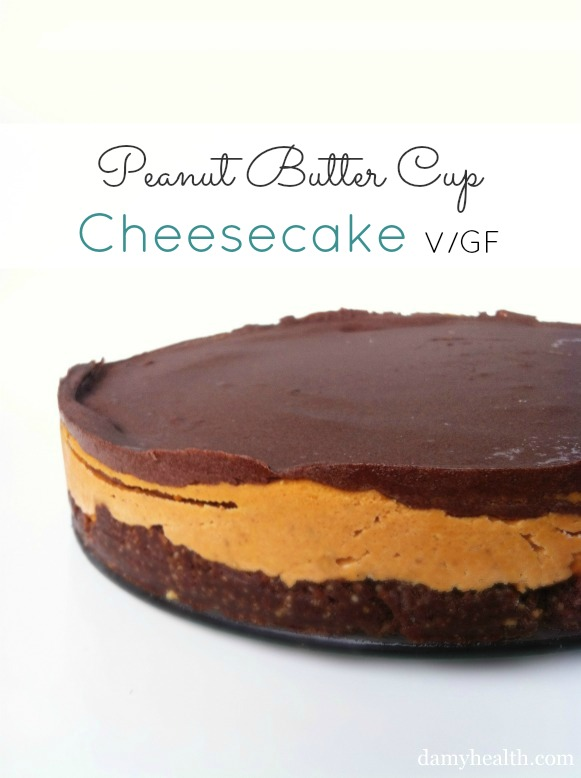 "Vegan Peanut Butter Cup ""Cheesecake"""