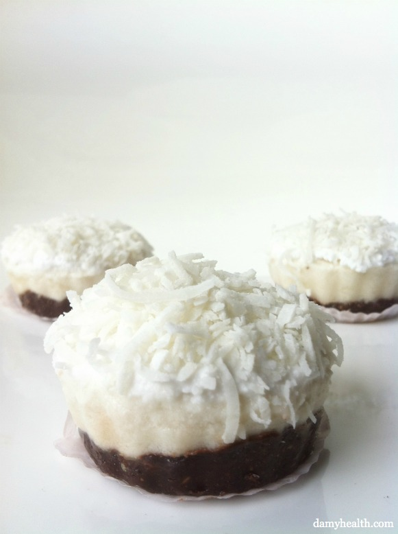 Raw Coconut Cream Pie with Dark Chocolate Crust