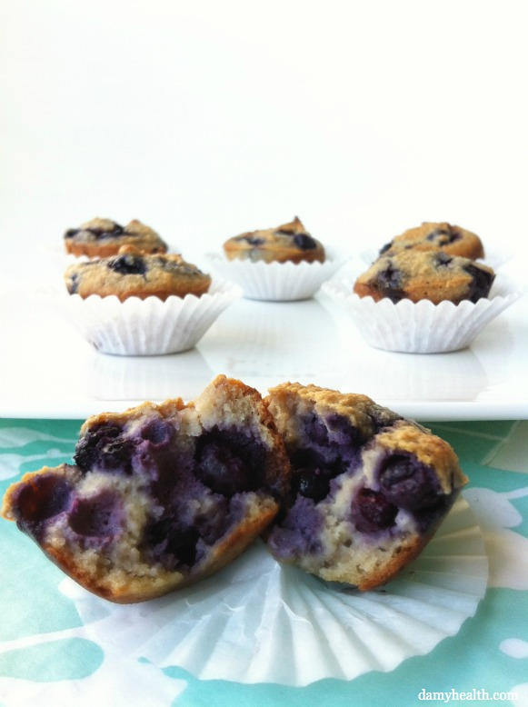 These really are the best almond flour blueberry muffins on the web ...