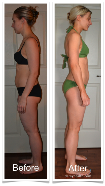 Kelsey Natural Weight Loss Before and Afters