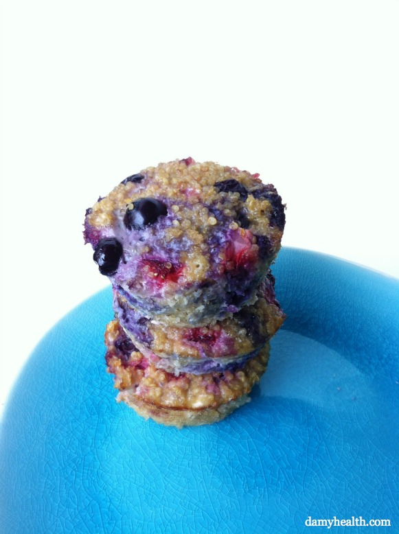 Clean Quinoa Breakfast Muffins