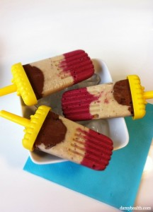 Healthy Banana Split on a stick