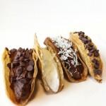 Healthy Chocolate Tacos (Dessert Tacos)