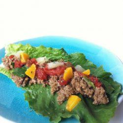 Raw food tacos