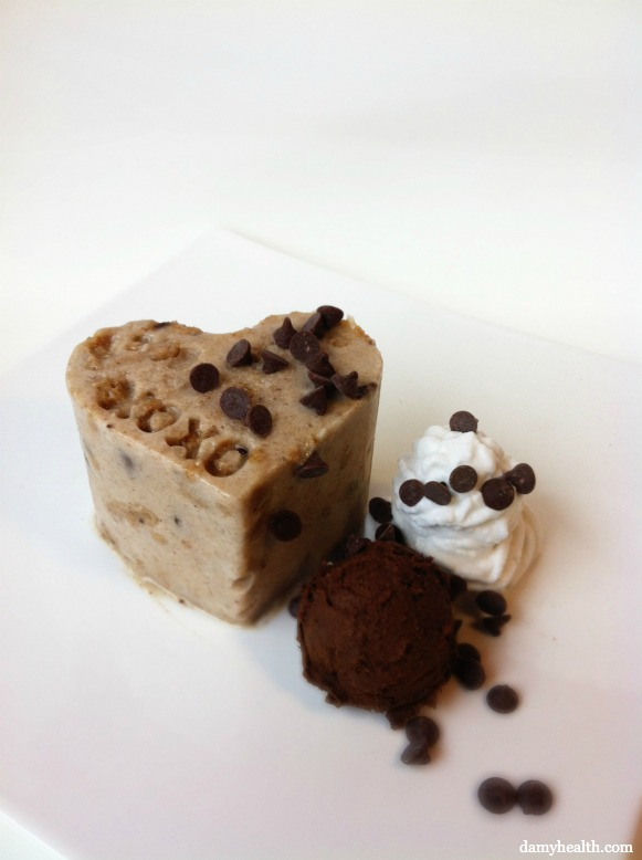 Vegan Cookie Dough blizzard cake