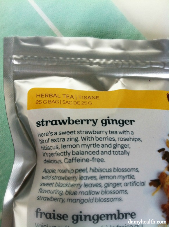 Davids Tea Strawberry Ginger