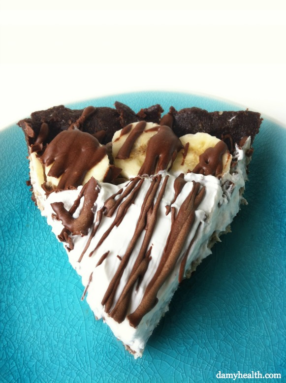 Healthy Chocolate Banana Cream Pie