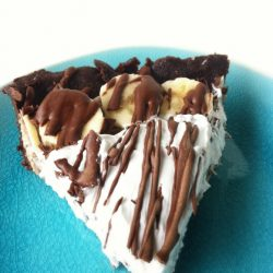 Vegan Healthy Chocolate Banana Cream Pie