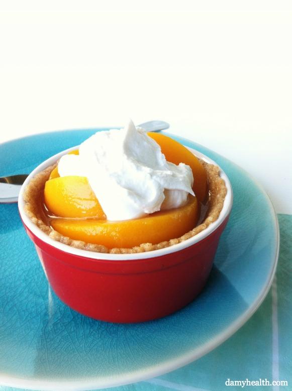 Healthy Vegan peach cobbler