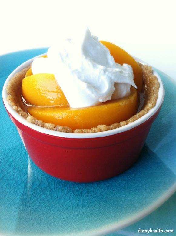 No bake peach cobbler
