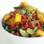 Sweet Peach and Spicy Chickpea Salad