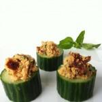 Raw Vegan Stuffed Cucumbers
