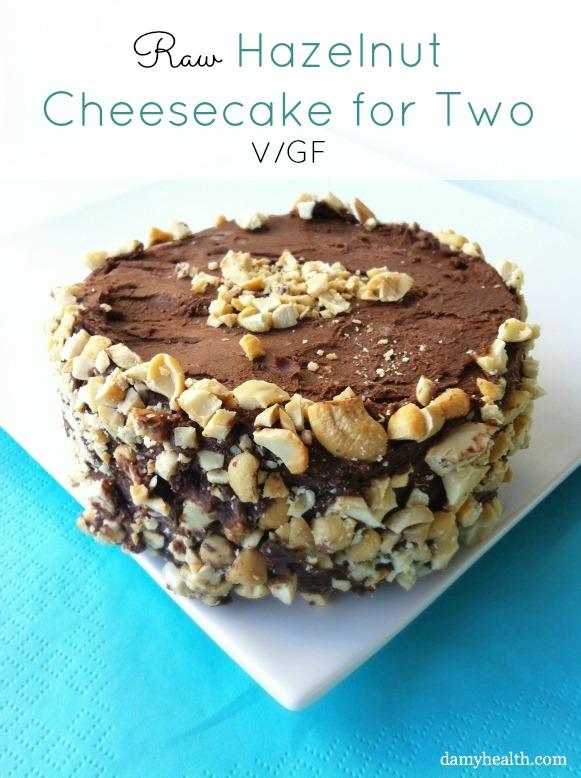 Raw Hazelnut Cheesecake for Two