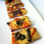 Spicy Basil Tofu Pizza Strips