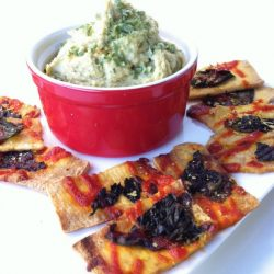 creamy cheese and chive hummus