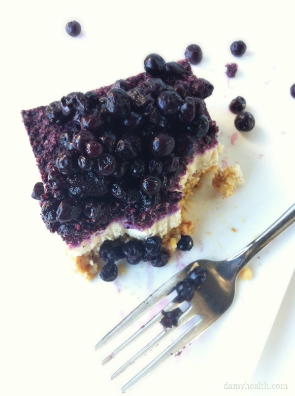 Raw Blueberry Cheesecake (Gluten Free/Dairy Free)