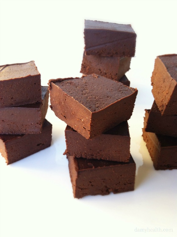 Natural Chocolate Freezer Fudge