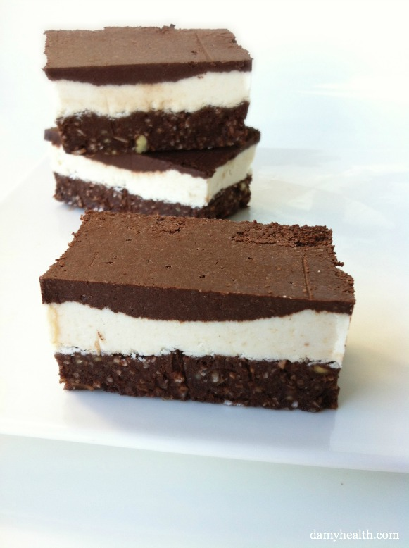 Raw Vegan nanaimo bars