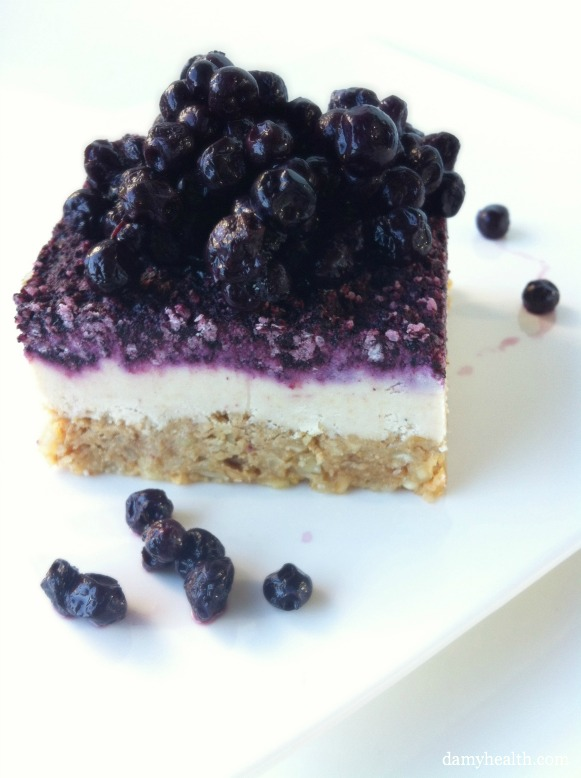 ... Serving of Raw Blueberry Cheesecake is a wonderful treat option