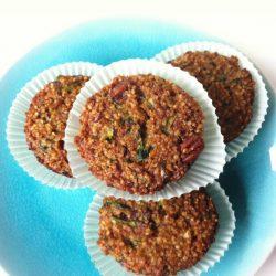 Zucchini Nut Quinoa Muffins