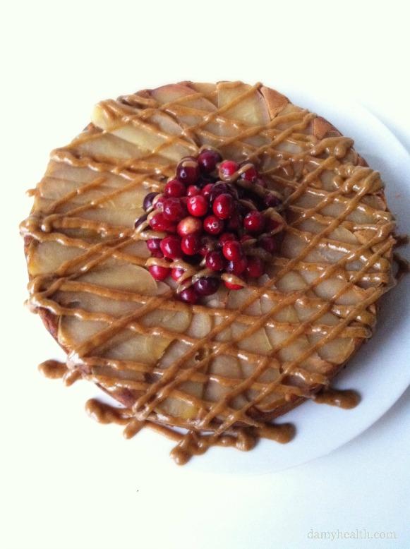 Clean Eating Caramel Apple Upsidedown Cake